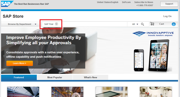 Download SAP Trial System - Step 1