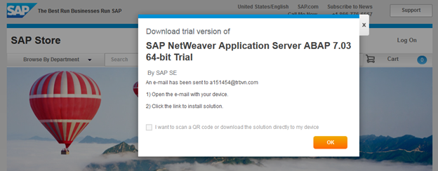 Download SAP Trial System - Step 4