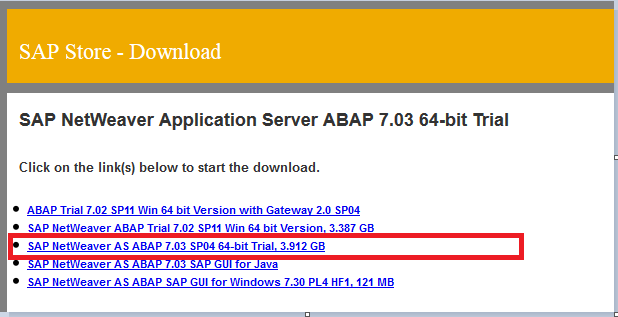 Download SAP Trial System - Step 5