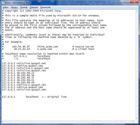 Problem with starting SAP Instance - hosts file original