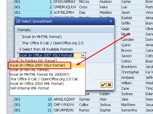 How to download records from database table into CSV file? - ABAP