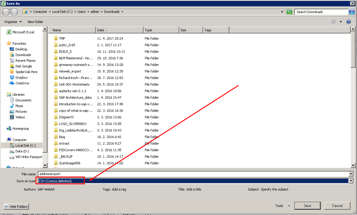 How to download records from database table into CSV file