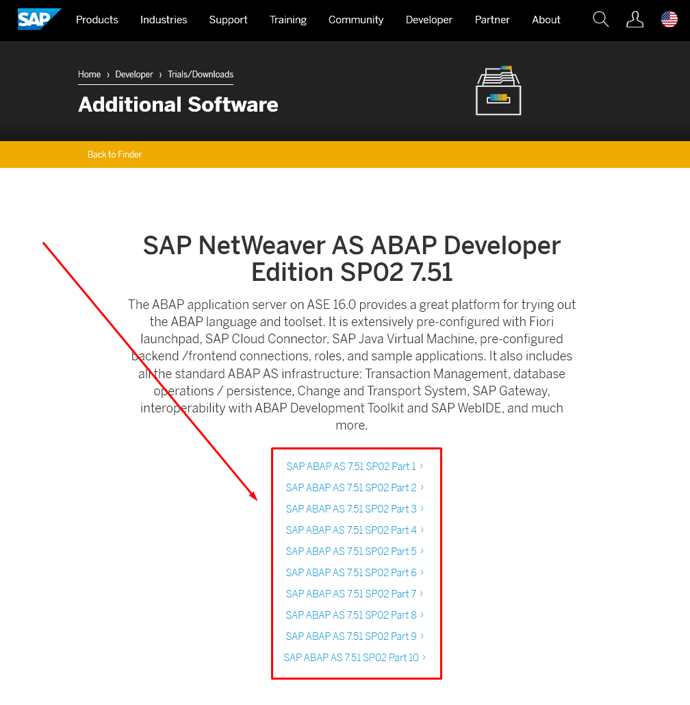 SAP System Installation Files