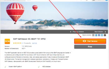 Download link to SAP NW 7.51 SP02 system