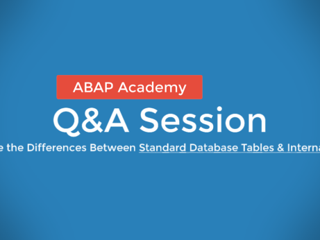 What is the difference between database table and internal table?